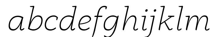 AnaphoraTrial-ExtraLightItalic Font LOWERCASE