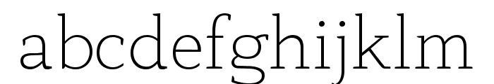 AnaphoraTrial-ExtraLight Font LOWERCASE