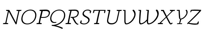 AnaphoraTrial-LightItalic Font UPPERCASE