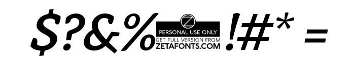 AnaphoraTrial-MediumItalic Font OTHER CHARS