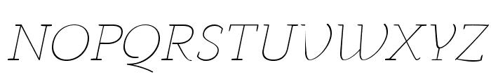 AnaphoraTrial-ThinItalic Font UPPERCASE