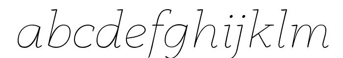 AnaphoraTrial-ThinItalic Font LOWERCASE
