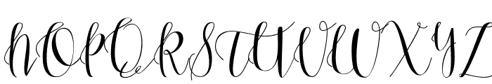 Anastasia script [demo] Font UPPERCASE