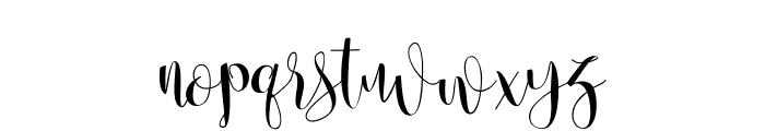 Anastasia script [demo] Font LOWERCASE