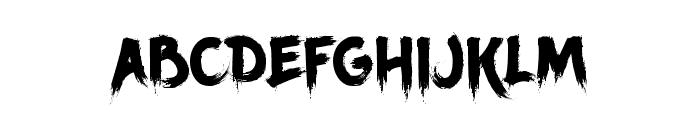 Ancherr Personal Use Regular Font UPPERCASE