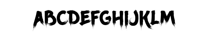 Ancherr Personal Use Font UPPERCASE