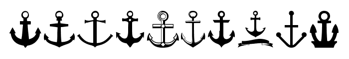 Anchor Font OTHER CHARS