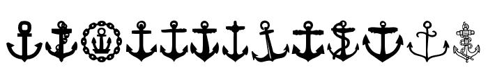 Anchor Font UPPERCASE