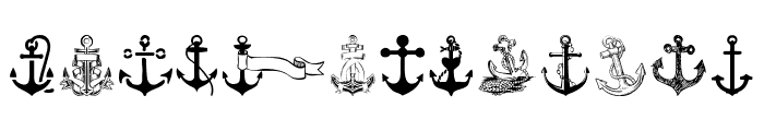 Anchor Font LOWERCASE