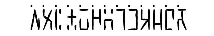 Ancient G Written Font UPPERCASE