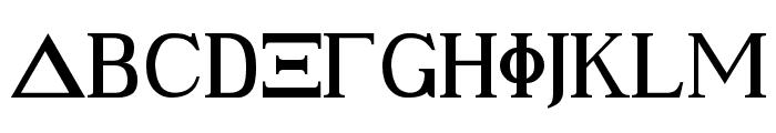 Ancient Geek Font UPPERCASE