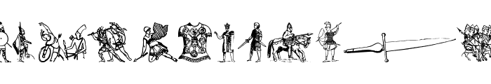 Ancient warriors and weapons tfb Font UPPERCASE