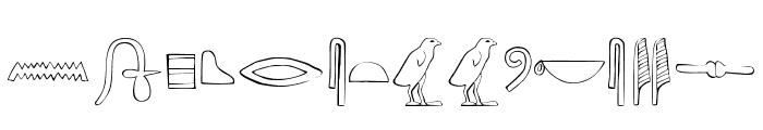 AncientEgyptianHieroglyphs Font UPPERCASE