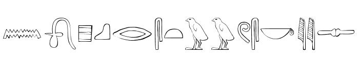 AncientEgyptianHieroglyphs Font LOWERCASE