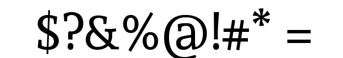 Andada-Regular Font OTHER CHARS