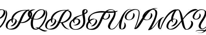 Andaluzia Personal Use Regular Font UPPERCASE