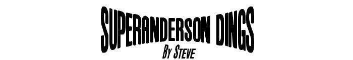 Anderson Dings 1 Font UPPERCASE
