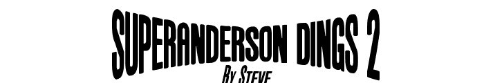Anderson Dings 2 Font UPPERCASE