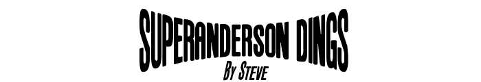 Anderson Space1999 Dings Font UPPERCASE