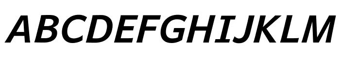 Andika New Basic Bold Italic Font UPPERCASE