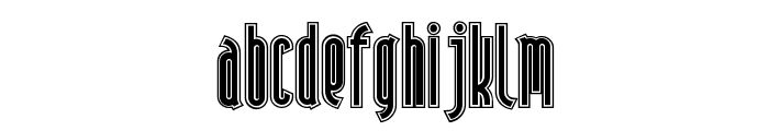 AndironOutline Font UPPERCASE