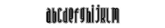 AndironOutline Font LOWERCASE