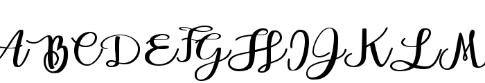 Andorra Personal Use Font UPPERCASE