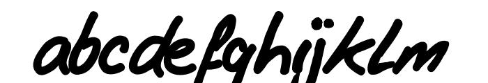 AndrewWard Font LOWERCASE