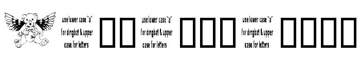 Angel Bear Font LOWERCASE