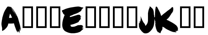 Angel Brotxa Regular Font LOWERCASE