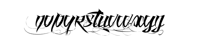 Angel of Blood Font LOWERCASE