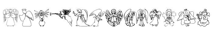 AngelOs 1 Font UPPERCASE