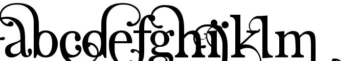 Angelic Serif Font UPPERCASE