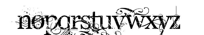 AngelicWar Font LOWERCASE