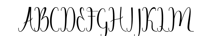 Angelica Free Font UPPERCASE