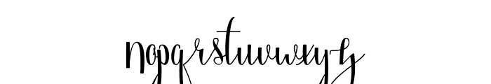 Angelica Free Font LOWERCASE
