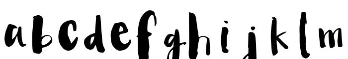 Angelica-Regular Font LOWERCASE