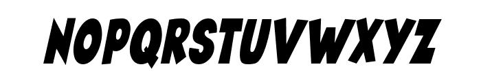 Angella Narrow Italic Font UPPERCASE