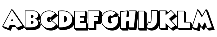 Angella Outline Font UPPERCASE