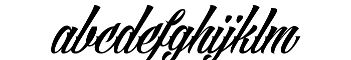 Angilla Tattoo Personal Use Font LOWERCASE
