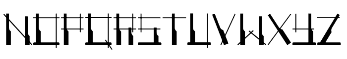 Angklung Awi Regular Font UPPERCASE