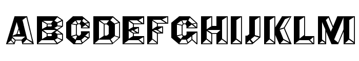 Angles Octagon Font UPPERCASE