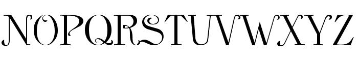 Anglican Regular Font UPPERCASE