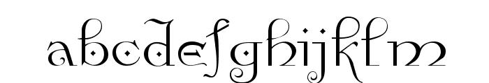 Anglican Regular Font LOWERCASE