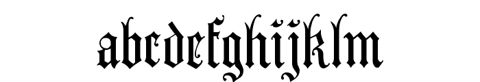 AnglicanText Font LOWERCASE