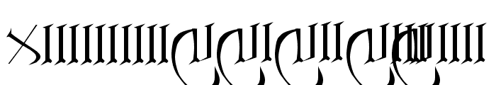 Anglo Sax Plain Font OTHER CHARS