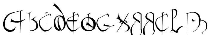 Anglo Sax Plain Font UPPERCASE