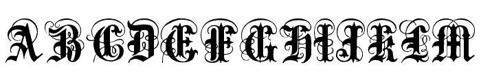 Anglo Text Font UPPERCASE