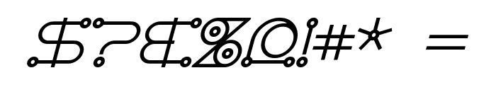 AngloCelestial Bold Italic Font OTHER CHARS