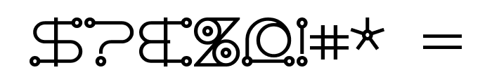 AngloCelestial Bold Font OTHER CHARS